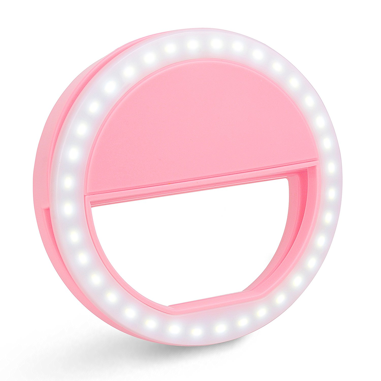 Clip On Selfie Ring Light with 36 LED Beans USB Charging 3 Level Adjustable Brightness for Cellphone, Tablet, Laptop