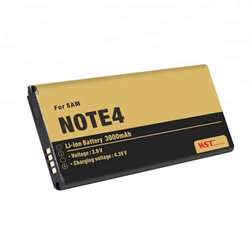 Factory Price FCC UN38.3 approved 3000mah cellphone battery For Samsung Galaxy Note 4