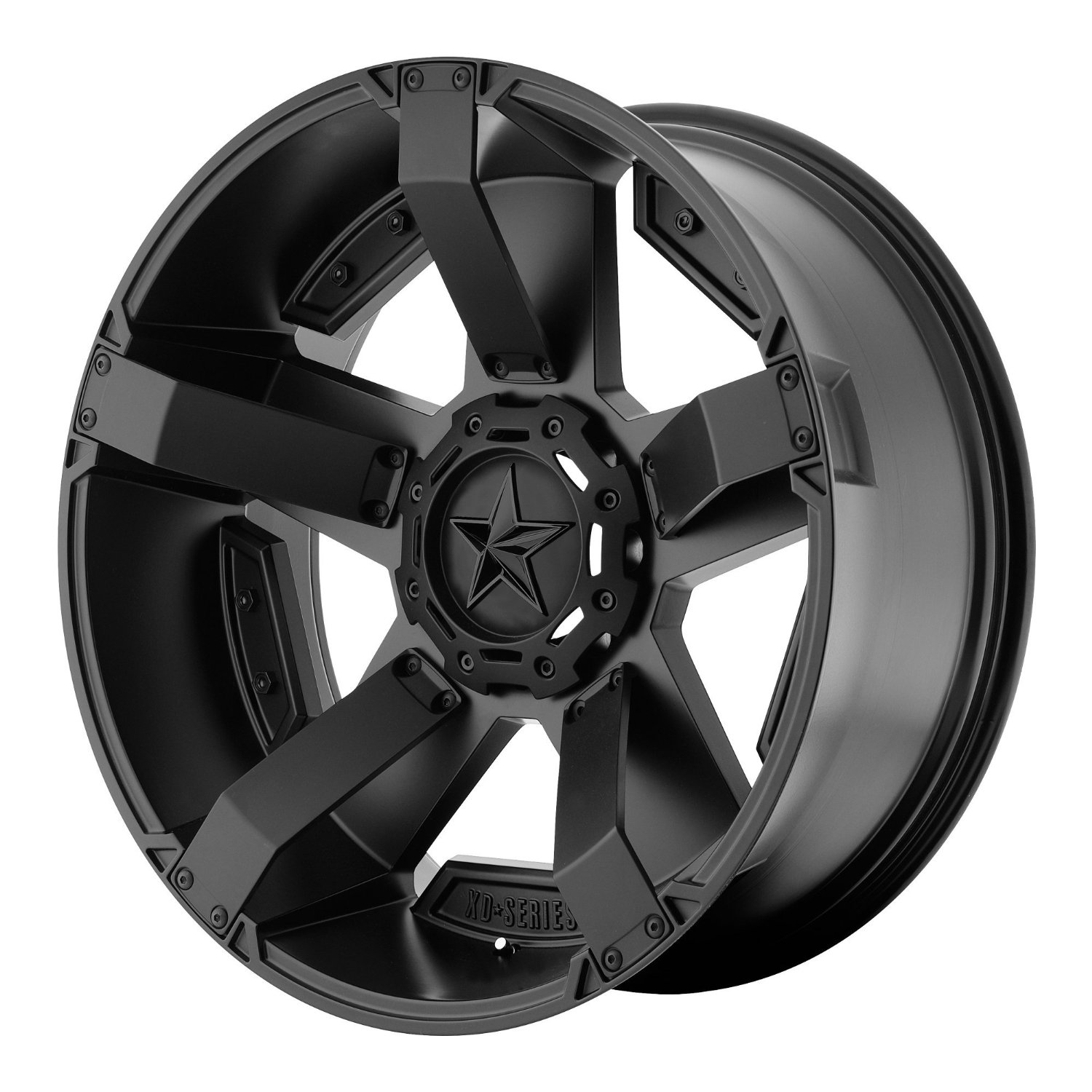 "XD Series by KMC Wheels XD811 Rockstar II Satin Black Wheel With Accents (17x8""/5x150mm, +35mm offset)"
