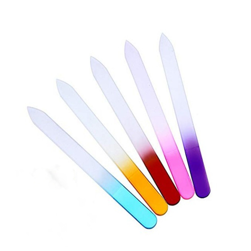 Oempromo promotional crystal glass nail file with crystal