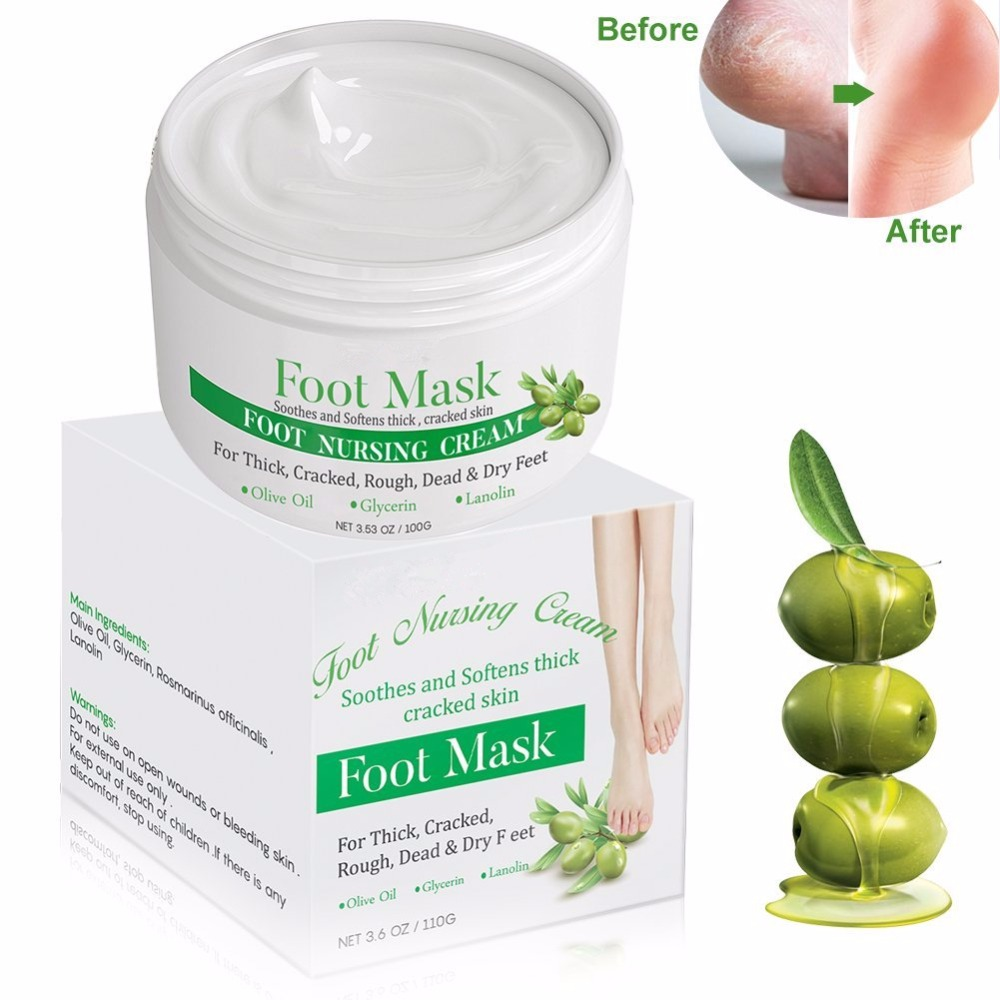 Private Label Olive Oil Moisturizing Foot Exfoliator Peel Foot Repair Cream