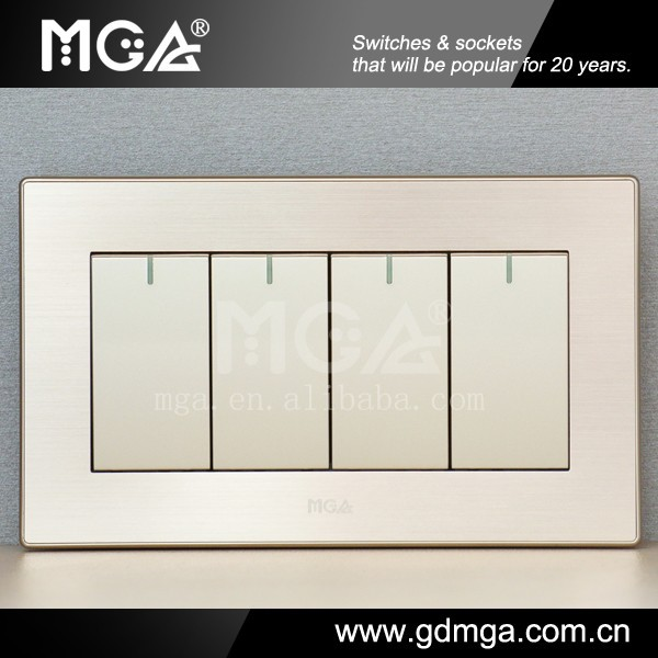 Big Button Modern Electric Switch & Household Electric Switch & 4 ...