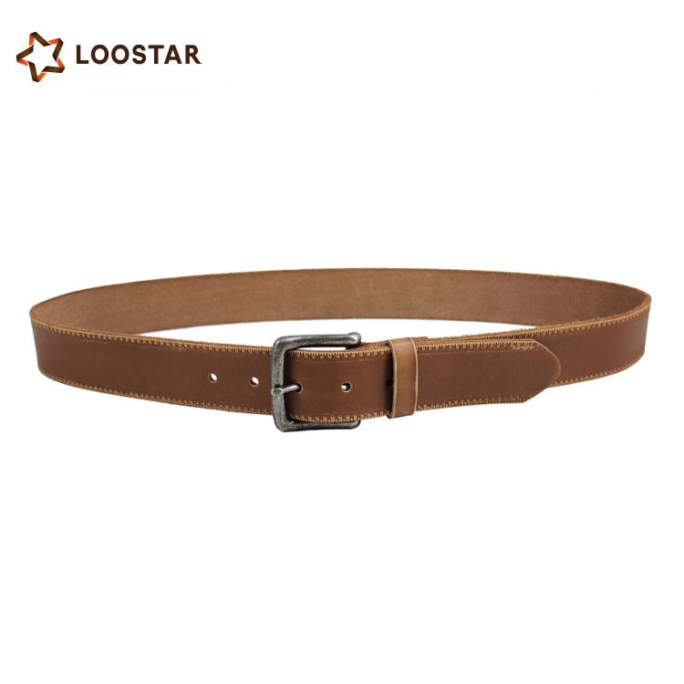 2017 Best Quality OEM the most popular genuine leather belt with steel auto buckle