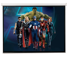Factory Directly Sale Manual Pull Down Screen Projector Screen Projection Screen with 4:3/16:9 Format
