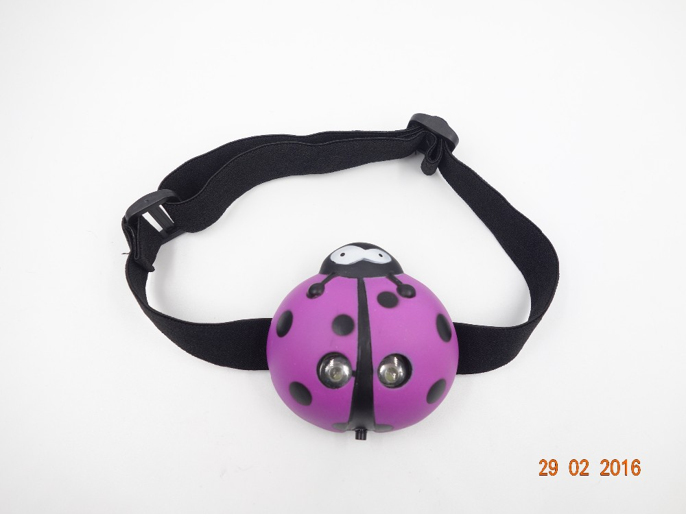 Holiday LED Animal Headlamp for Kids including F rog, Dog, Ladybird