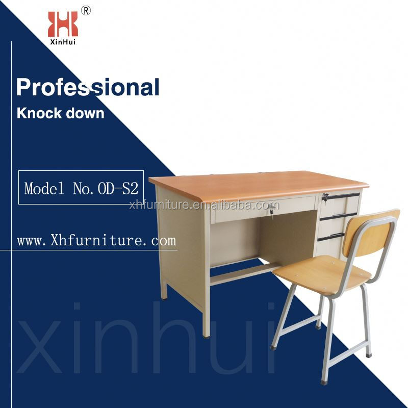 school teacher Modern cheap metal office desk with drawer