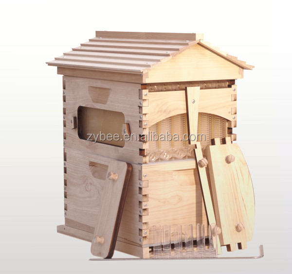 2017 New style automatic 7 frames langstroth wooden honey flow hive