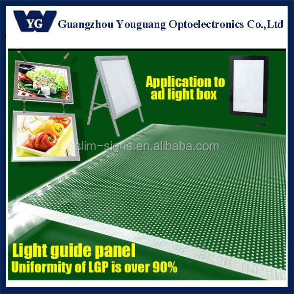 light box material edge light guide panel light diffuser clear acrylic sheet