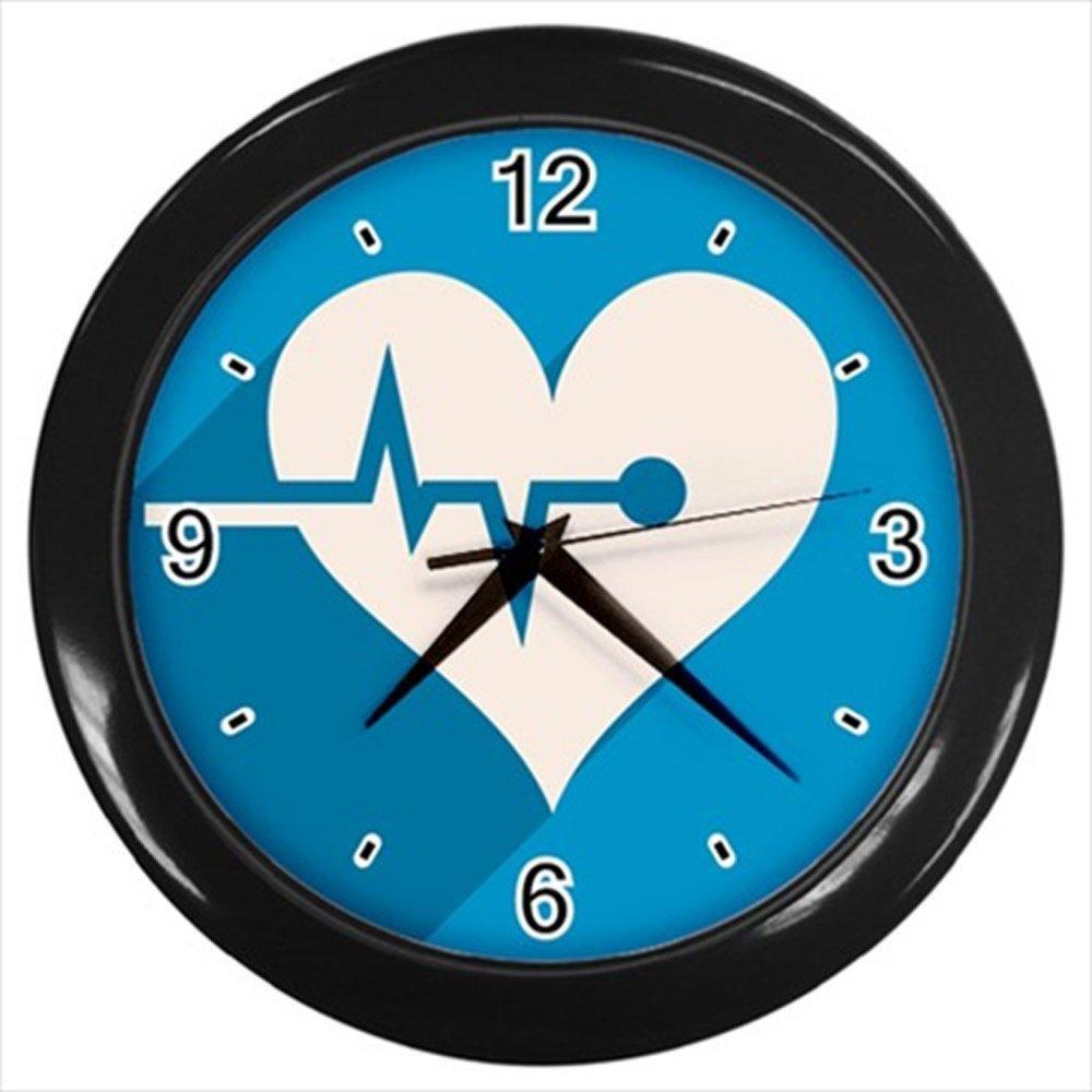 Kidozooo Cardiovascular Medical Icon Wall Clock Black