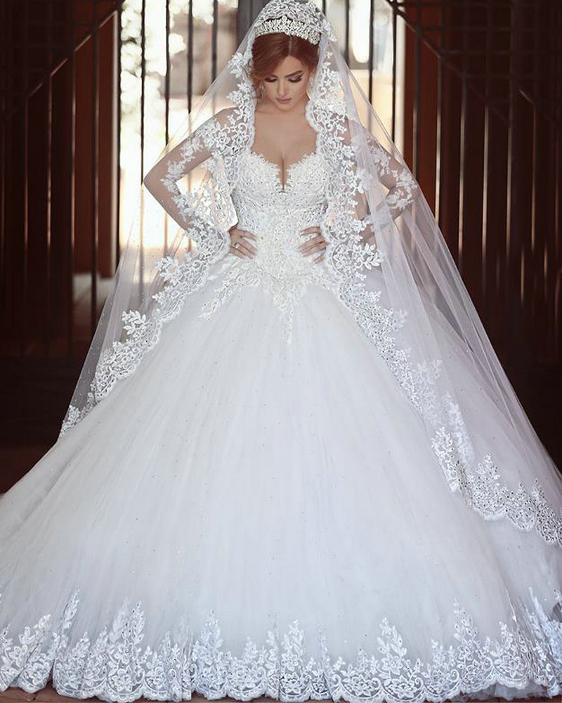 Wedding Dresses: Cathedral Royal Train Wedding Dress Said Mhamad 2016 Ball