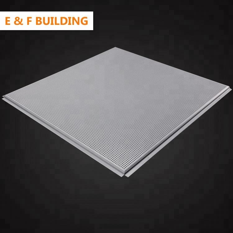 Types of Lay in Suspended Ceiling Materials in Office Cost price decorative perforated aluminum metal ceiling tiles