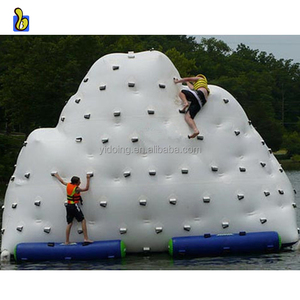0.9mm PVC large inflatable iceberg climbing water toys for lake D3068-2
