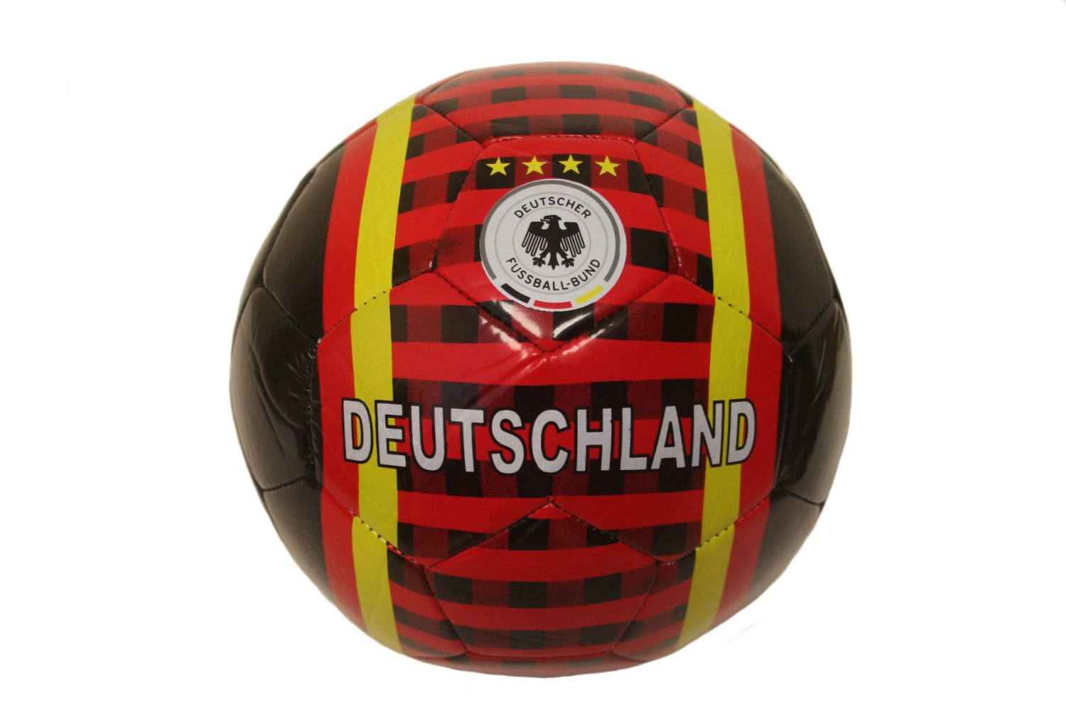 Deutschland Germany Black Deutscher Fussball - Bund Logo FIFA World Cup Soccer Ball Size 5.. New