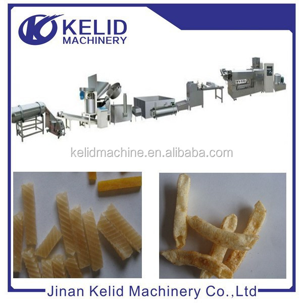 single screw extruder fried pellet snack food machine