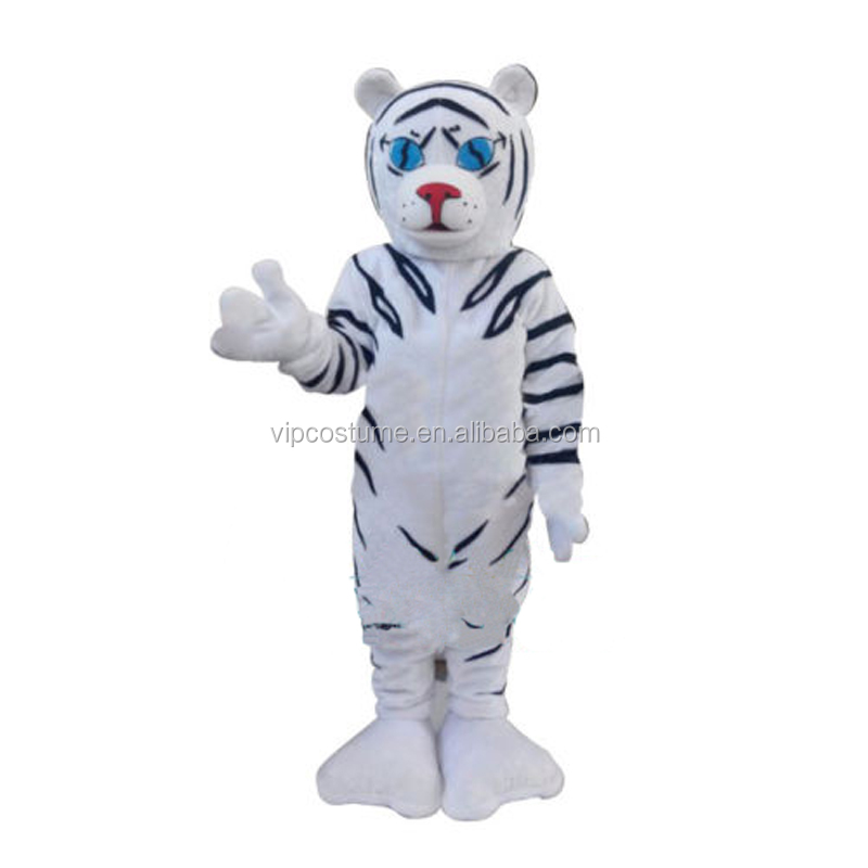 White Tiger Mascot Costume Cartoon Animal Mascot For Halloween Birthday Party