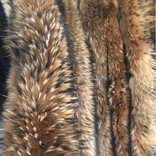 60cm raccoon fur trim for hood