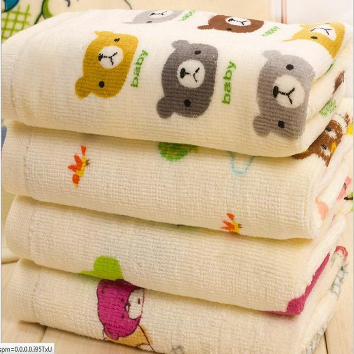 New Arrival Comfortable Baby Face Towels 100 Cotton Children Towels Cartoon Face Towels 50x20cm
