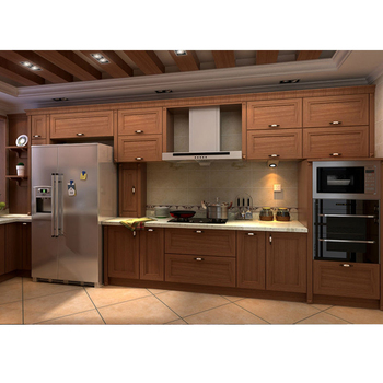 Elegant American Style Oak Wood Kitchen Cabinet Mdf Cabinet Kitchen Buy Mdf Kitchen Cabinet Design Mdf Cabinet Kitchen Mdf Cabinet Kitchen Product On Alibaba Com
