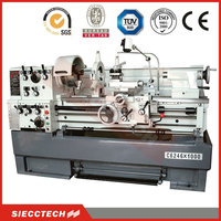 siecc/hect universal lathe machine, metal woring lathe C6241 used lathe machine