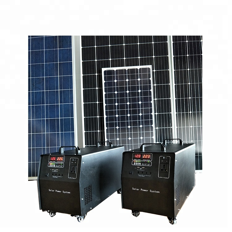 Whole House 220V 1000W Portable Solar Power Generator Running Solar Power System for Home solar systems