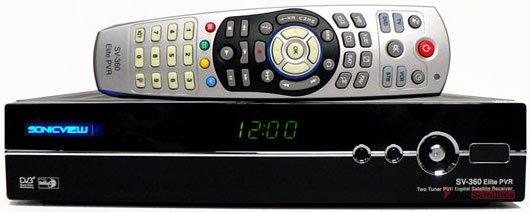 Sonicview sv-360 premier fta mini pvr digital satellite receiver.