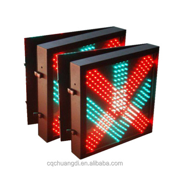 Road safty R cross G arrow traffic led signals