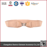 Fashion ladies wide cheap elastic leather waist belt