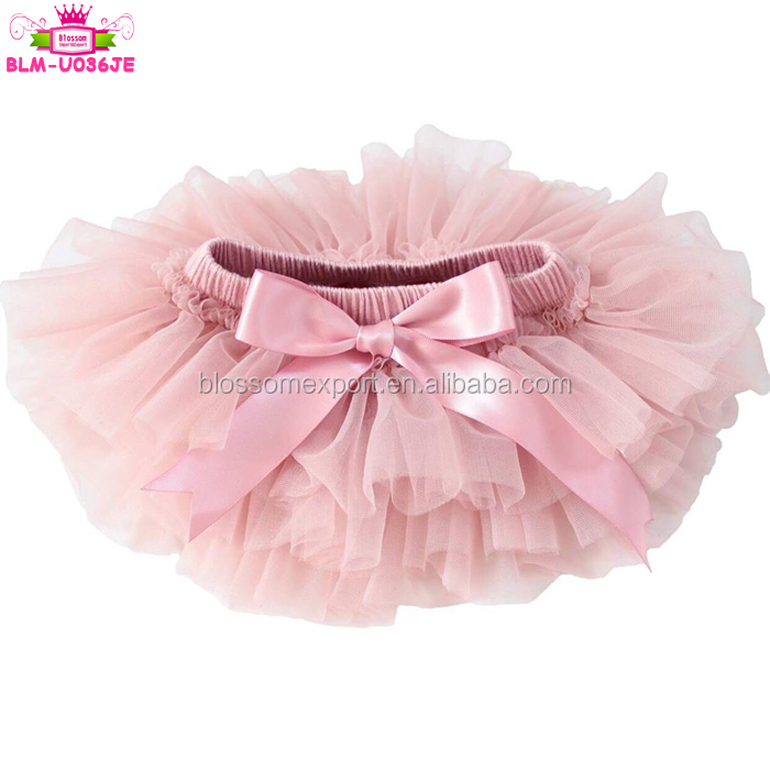 Solid Color Soft Chiffon Ruffle Tutu Bloomer Diaper Cover Wholesale Lovely Cotton Baby Girls Tutu Bloomer