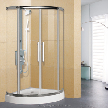 Quarter Circle Shower Tray Tempered Glass Bath Shower Cabin