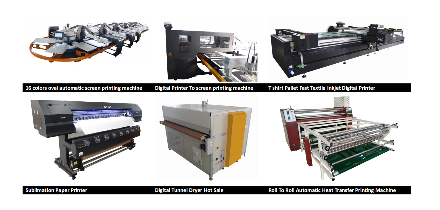 Quality T Shirt Digital Inkjet Type  Printer Available For Automatic Fast Screen Printing Machinery Combination