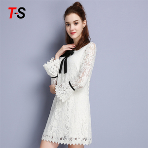 Latest Design Add Wool Eco-Friendly Lace Dress