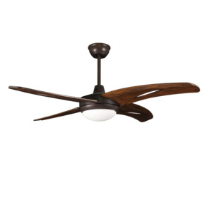 2019 New Solid wooden blades scandinavian home decor 52 inch ceiling fan with light