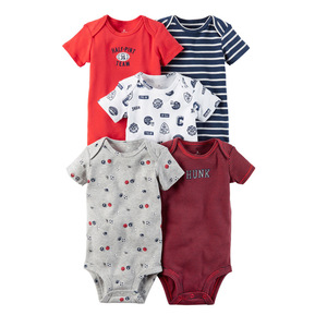 Weekly baby boy's daily romper bodysuit 5 pack set baby bodysuit
