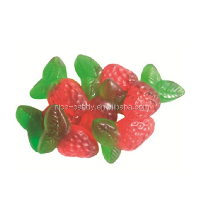 Halal strawberry shaped Soft Gummi Candy FDA Gummy jelly sweets Candy
