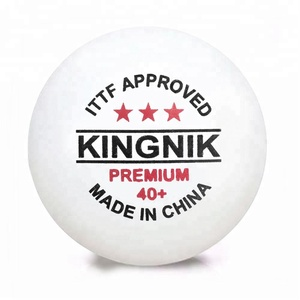ITTF approved KINGNIK brand Premium 3 star 40+ plastic table tennis ball(competition pingpong ball)