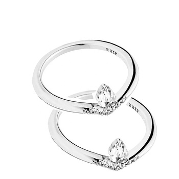 Slovehoony Fashion jewelry Classic 좋겠어요 wedding 링 joyeria, womens 두 종 sets 925 silver 링