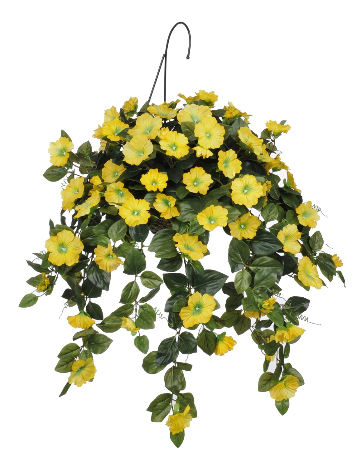 Buy house of silk flowers artificial yellow petunia hanging basket house of silk flowers artificial yellow petunia hanging basket mightylinksfo