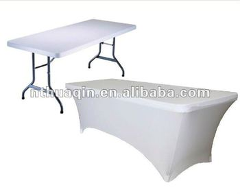 b7207e874a72 6 Ft White Rectangular spandex table cover stretch table cover banquet  lycra table cloth