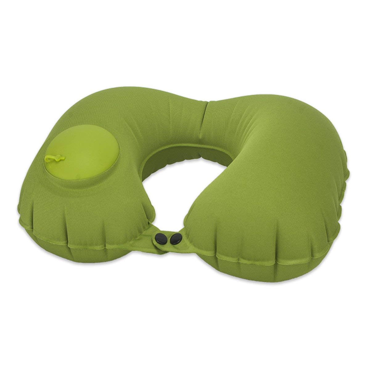 U Shape Neck Pillow, Adjustable Inflatable Travel Pillows for Airplanes, Multi-fonction Traveling Foldable Compact Self Inflating Neck Chin Support Rest Pillow for Cars, Buses, Trains, Office Napping