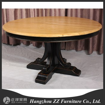 french country style vintage solid wooden dining table round dining table dining room table