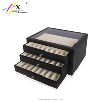 High quality wooden glass top used jewelry showcases box