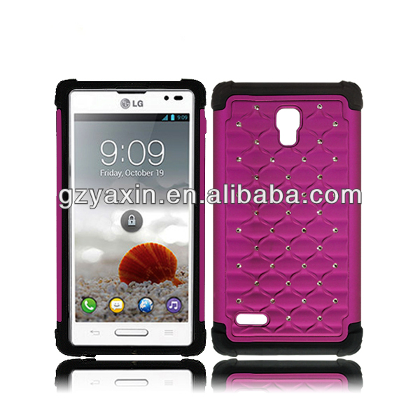 silicone case for lg optimus l9,shockproof diamond case cover for LG P769