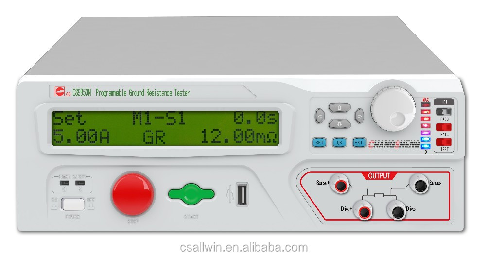CS9950AN 25A ac output current 510m ohm earth resistance Programmable ground resistance tester