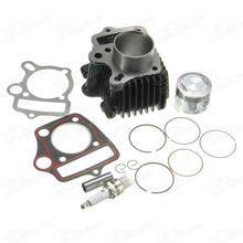 Motorcycle Dirt Pit <span class=keywords><strong>70cc</strong></span> <span class=keywords><strong>Motor</strong></span> Cilinder Lichaam Blok Kit Zuiger Pakking Top End Ijzer Staal