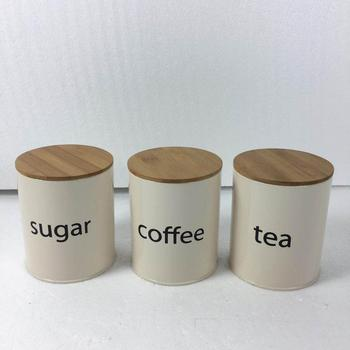 Food Grade Unique Kitchen Coffee/Sugar/Tea Canisters Set