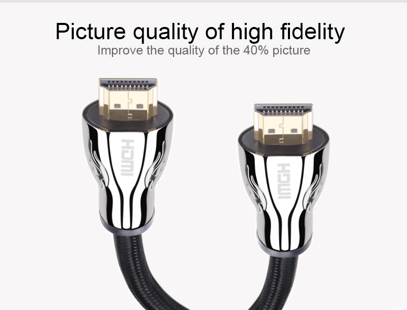 wholesale High-Speed HDMI zinc shell Cable 2.0 golden plated Supports Ethernet, 3D, 4K HDTV