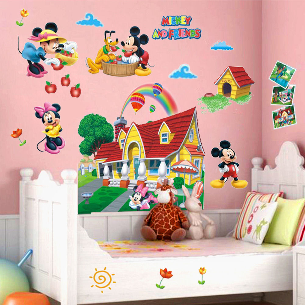Popular mickey mouse mural buy cheap mickey mouse mural - Mickey mouse clubhouse bedroom decor ...