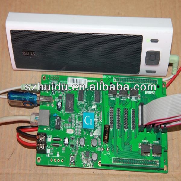 p10(1r)-v701c led display controller c1 pixel 384x128,video audio output,working no need computer