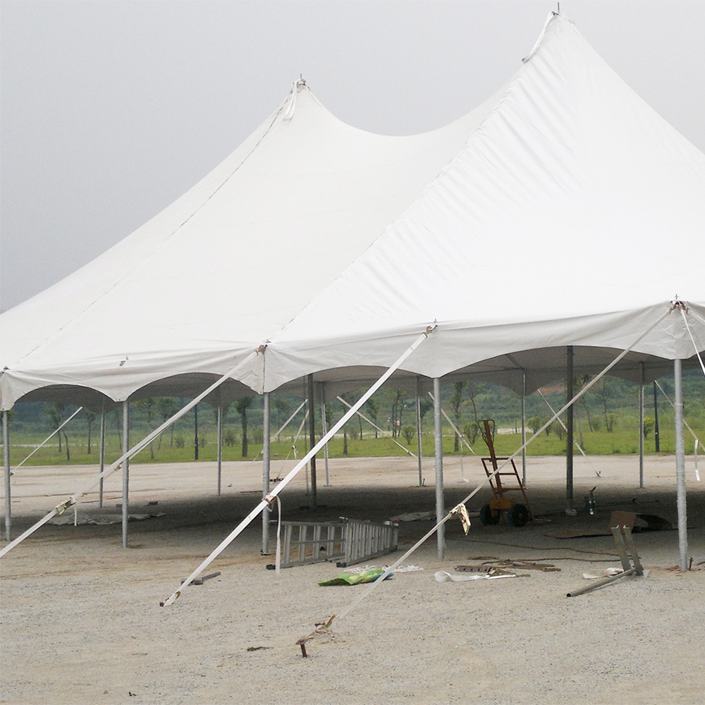 COSCO custom Peg and Pole Tent White Aluminum big Marquee tent