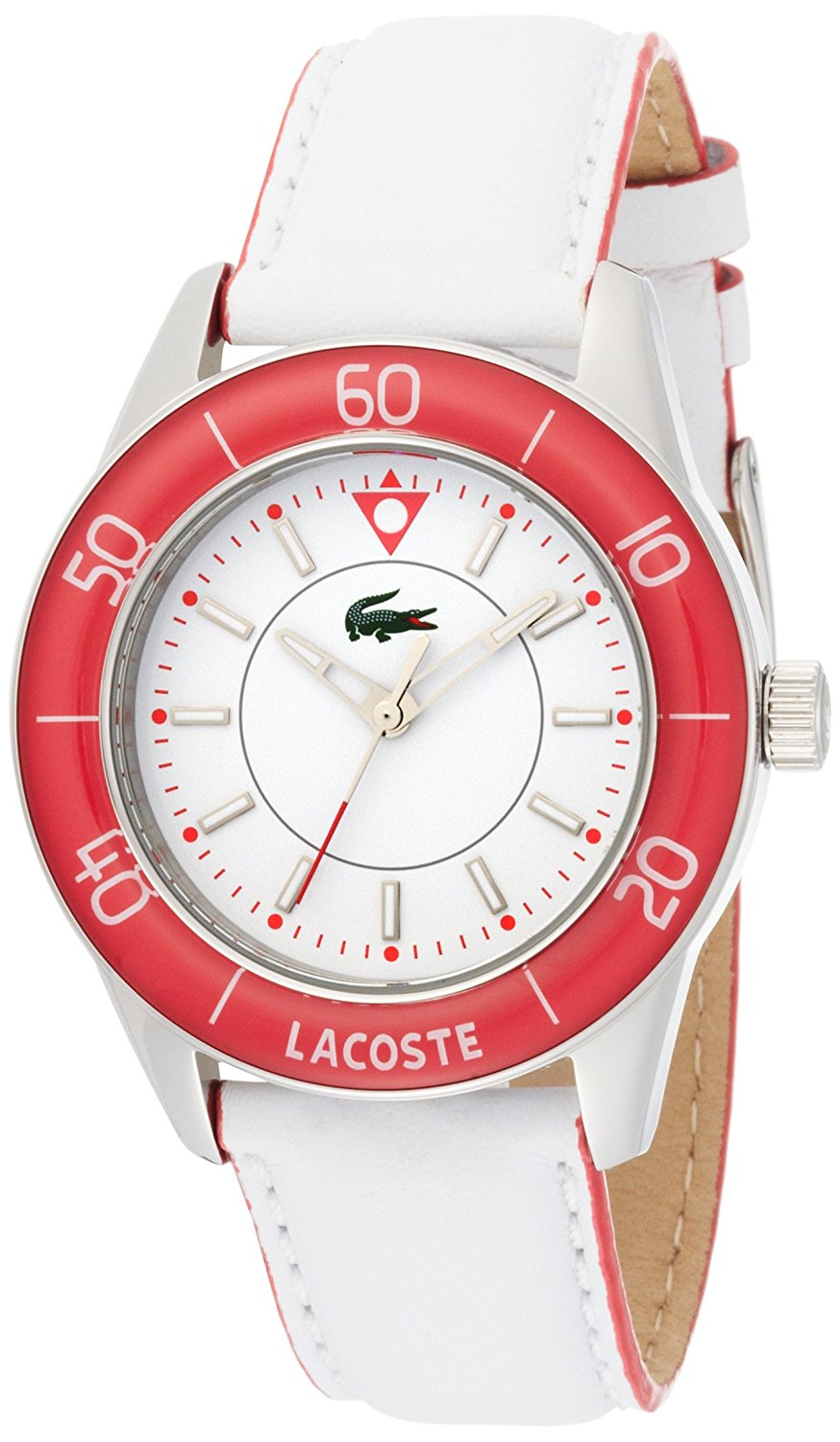 26571bb5ce5 Get Quotations · Lacoste Sportswear Collection Opio White Dial Women s watch   2000561